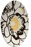 rug #655473 | oval brown graphic rug