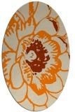 rug #655493   oval beige graphic rug
