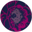 rug #655909 | round blue graphic rug