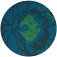 rug #655961 | round blue-green natural rug