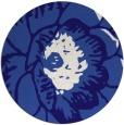 rug #655985   round blue-violet rug