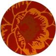 rug #656125 | round orange rug