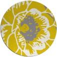 rug #656181 | round yellow natural rug