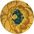 rug #656185 | round yellow popular rug