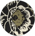 rug #656189 | round black natural rug