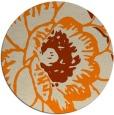 rug #656197   round orange popular rug