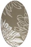 rug #656937 | oval beige graphic rug