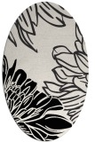 rug #656941 | oval black graphic rug