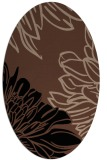 rug #656953 | oval brown graphic rug