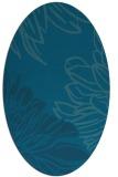rug #656989   oval blue-green natural rug