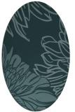 rug #657009 | oval blue-green natural rug