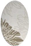 rug #657077 | oval white natural rug