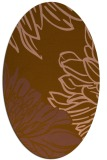 rug #657081 | oval brown graphic rug