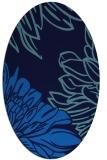 rug #657105 | oval blue rug