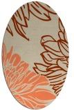 rug #657133 | oval beige graphic rug