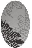 rug #657137 | oval red-orange graphic rug