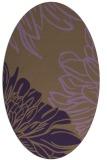 rug #657169 | oval mid-brown natural rug
