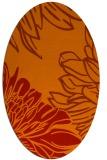 rug #657181   oval orange graphic rug