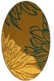 rug #657241   oval light-orange graphic rug