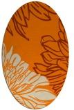 rug #657253 | oval orange rug