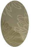 rug #657261 | oval light-green graphic rug