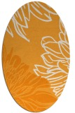 rug #657281 | oval light-orange graphic rug