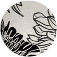 rug #657645 | round black graphic rug