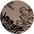 rug #657653 | round black natural rug