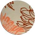 rug #657837 | round orange rug