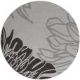 rug #657841 | round red-orange graphic rug