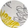 rug #657941 | round white graphic rug