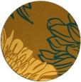 rug #657945   round light-orange graphic rug