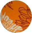 rug #657957 | round orange rug