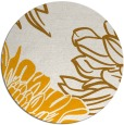 rug #657977 | round light-orange natural rug