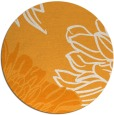 rug #657985 | round light-orange natural rug