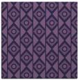rug #658441 | square purple circles rug