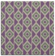 rug #658525 | square purple circles rug