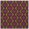 rug #658573 | square purple circles rug