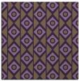 rug #658577 | square purple circles rug
