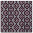 rug #658581 | square purple circles rug