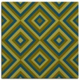 rug #661925 | square green rug