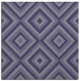 rug #661953 | square blue-violet retro rug