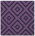 rug #661961 | square blue-violet retro rug