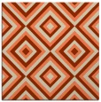 rug #662061 | square orange retro rug
