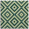 rug #662069 | square yellow retro rug