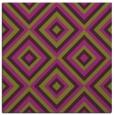 rug #662093 | square purple retro rug