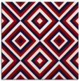 rug #662105 | square red retro rug