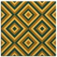rug #662169 | square yellow retro rug