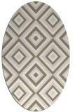 rug #662217   oval beige rug