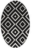 rug #662221 | oval black retro rug